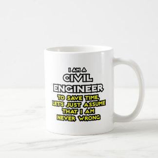 Civil Engineer Assume I Am Never Wrong Coffee Mug