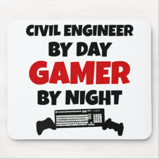 Civil Engineer By Day Gamer by Night Mouse Pad