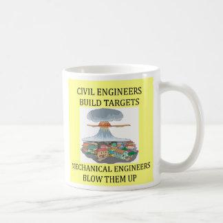CIVIL engineers build targets, CIVIL engineers ... Basic White Mug