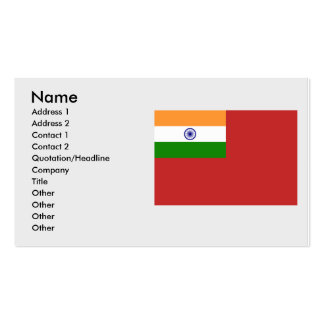 Civil Ensign India, India Business Card