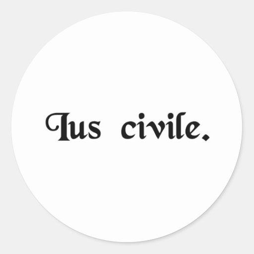 Civil law. stickers