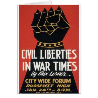 Civil Liberties in War Times Greeting Card