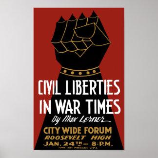 Civil Liberties In War Times -- WPA Poster