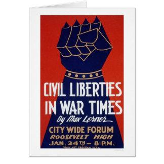 Civil Liberty WWII 1940 WPA Card