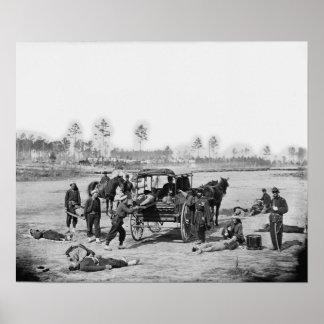 Civil War Ambulance Crew Poster