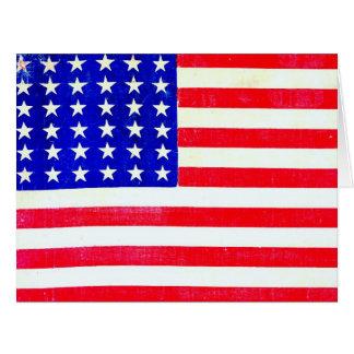 Civil War American Flag 1865 Big Greeting Card