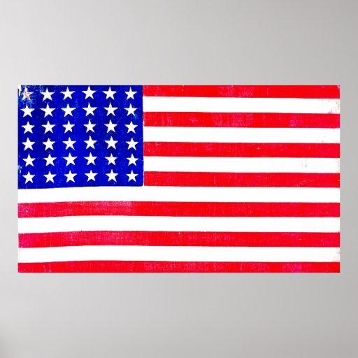 Civil War American Flag 1865 Poster