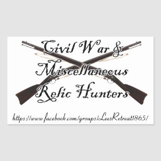 civil war and misc relic hunters decal rectangular sticker