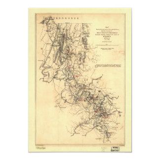 Civil War Atlanta Campaign Map September 1, 1864 13 Cm X 18 Cm Invitation Card
