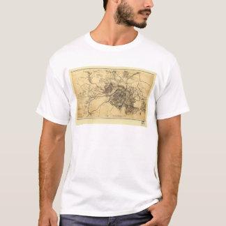 Civil War Atlanta Ga. Map (July 19 - Aug 26 1864) T-Shirt