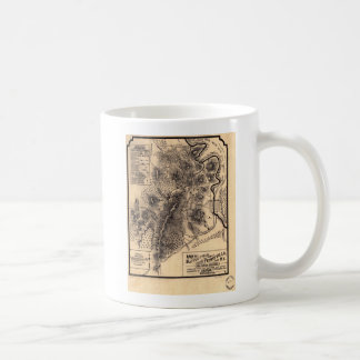 Civil War Battlefield of Perryville Kentucky Map Coffee Mug