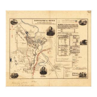 Civil War Battlefield of Stone River Dec. 31, 1862 Stretched Canvas Print