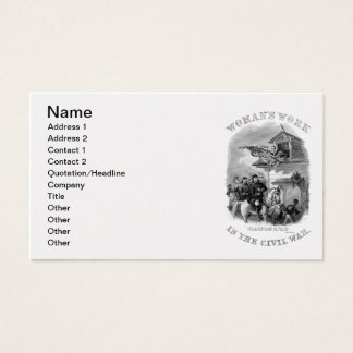 Civil War Business Card
