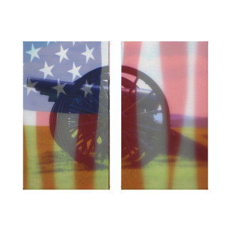 Civil War Diptych Canvas Print