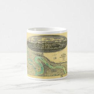 Civil War Era Map of Vicksburg Mississippi 1863 Coffee Mug