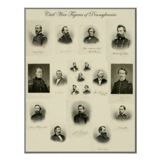 Civil War Figures of PA #2 Poster