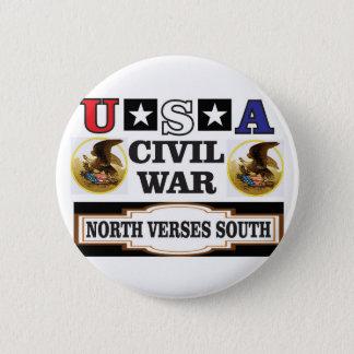 civil war fun art 6 cm round badge