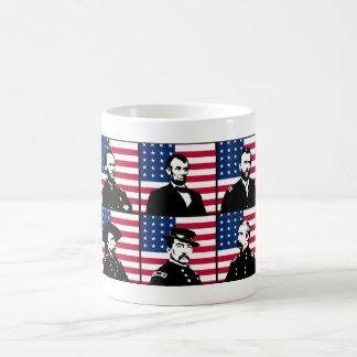Civil War Heroes and The American Flag Basic White Mug