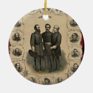 Civil War Heroes Ceramic Ornament