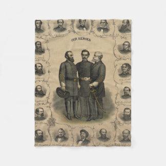 Civil War Heroes Fleece Blanket