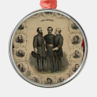 Civil War Heroes Metal Ornament