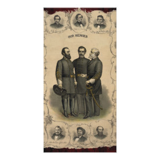 Civil War Heroes Photo Card