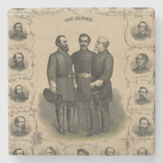 Civil War Heroes Stone Coaster