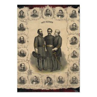 Civil War Heroes USA America Magnetic Invitations