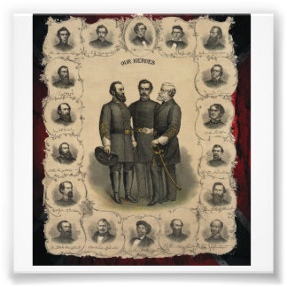 Civil War Heroes USA South Photo Print