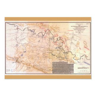 Civil War Map Battlefield of Chickamauga (1863) Card