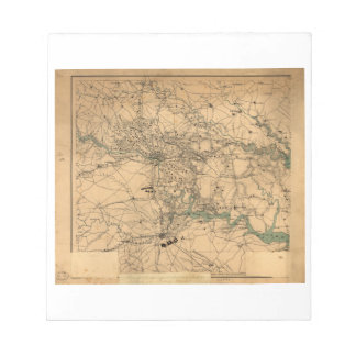 Civil War Map of Richmond and Petersburgh (1864) Notepad