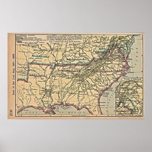 Civil War MAP Poster