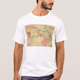 Civil War Map Showing Battlefields of Virginia T-Shirt