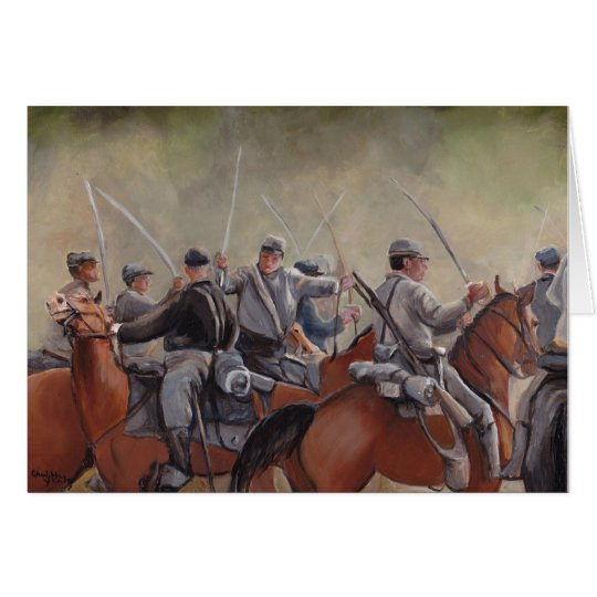 Civil War Re-enactment Battle Art Notecard