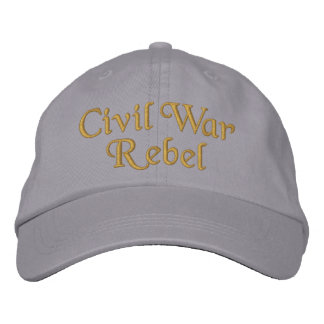 Civil War Rebel Embroidered Hats