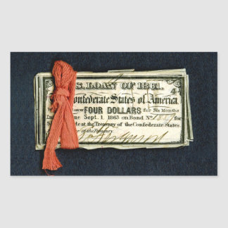 Civil War Red Tape Rectangle Sticker