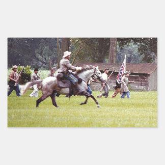 Civil War Reenactment Rectangular Sticker