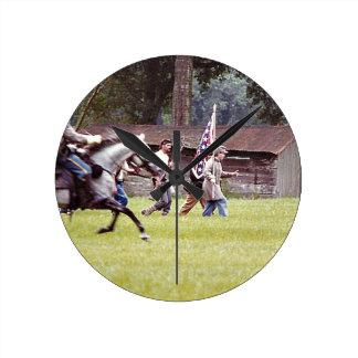 Civil War Reenactment Round Clock