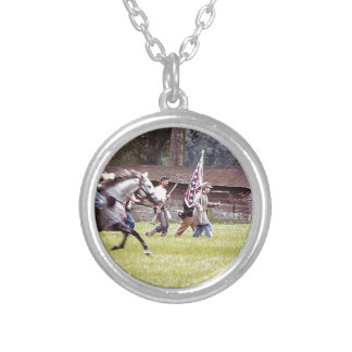 Civil War Reenactment Silver Plated Necklace