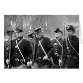Civil War Reenactment - Union Soldiers Card
