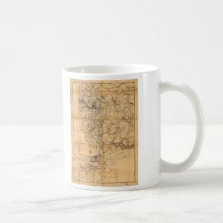Civil War Richmond and Petersburg Map (1865) Coffee Mug