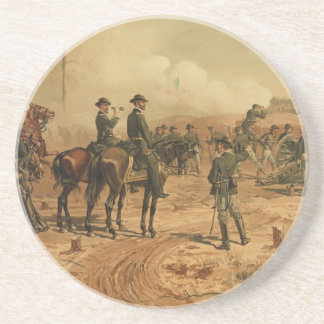 Civil War Siege of Atlanta by Thure de Thulstrup Coaster