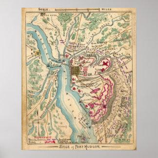 Civil War Siege of Port Hudson Poster