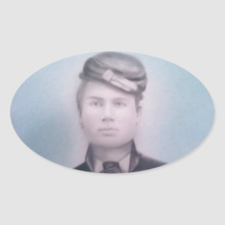 Civil War Soldier Oval Sticker