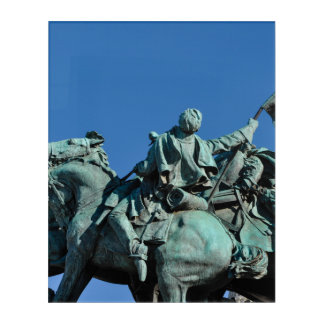 Civil War Soldier Statue in Washington DC_ Acrylic Print