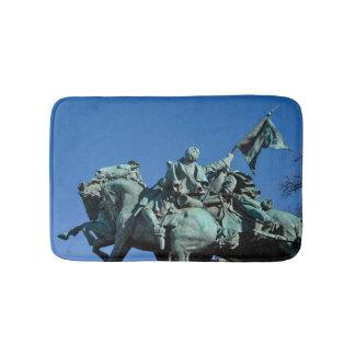 Civil War Soldier Statue in Washington DC_ Bath Mat