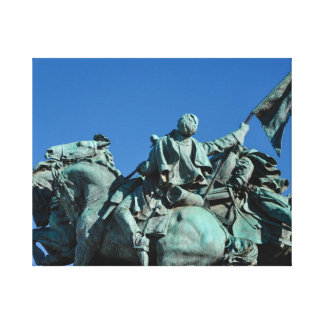 Civil War Soldier Statue in Washington DC_ Canvas Print