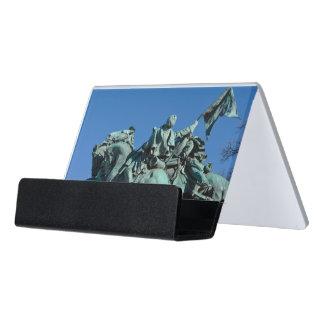 Civil War Soldier Statue in Washington DC_ Desk Business Card Holder