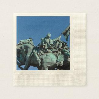 Civil War Soldier Statue in Washington DC_ Disposable Serviettes