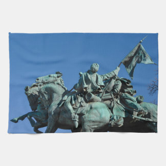 Civil War Soldier Statue in Washington DC_ Hand Towel